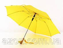 Зонт с деревянной ручкой голова утки (Желтый)