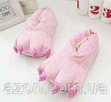 Домашние тапочки кигуруми Лапы Розовый