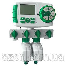 Таймер полива, подачи воды на 4 линии цифр. упр Aqualin YL10204