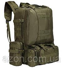 Рюкзак тактичний з підсумкими A08 50 л, олива