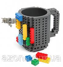 Кружка Lego брендовая 350мл Gray
