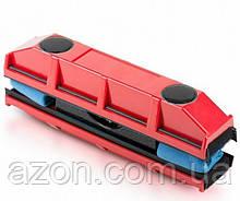 Щетка магнитная для мытья стекол с двух сторон Glider, красная