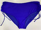 Купальник роздільний жіночий однотонний вишневий 48 і синій 50 євро, фото 2