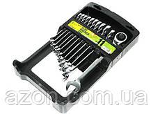 Набір ключів рожково-трещоточных 11шт 8-19 мм ALLOID ПК-2081-11 (наб.)