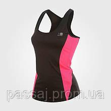 Топ для бігу, спортивна майка чорного кольору бренд з бірками