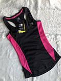 Топ для бігу, спортивна майка чорного кольору бренд з бірками, фото 4
