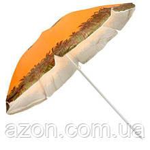 Зонт пляжний d2.0м срібло Stenson MH-0039