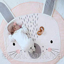 Ковдра килимок в дитячу кімнату Рожевий Зайчик