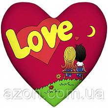 Подушка Love is серці Red