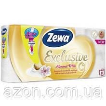 Туалетная бумага Zewa Exclusive 4-слойная Миндальное молочко 8 шт (7322540837933)