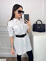Молодіжна подовжена сорочка стильна туніка з коротким рукавом трансформером р-ри 42-48 арт. 67