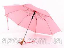 Зонт з дерев'яною ручкою голова качки (Рожевий)