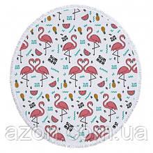 Пляжний килимок Summer Flamingo