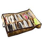 [ОПТ] Органайзер обувной коробка для хранения обуви на 12 пар с прозрачной крышкой на замке Shoes Under, фото 5