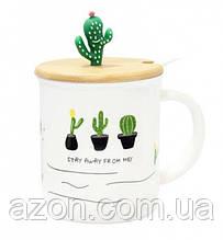 Керамическая чашка Кактусики