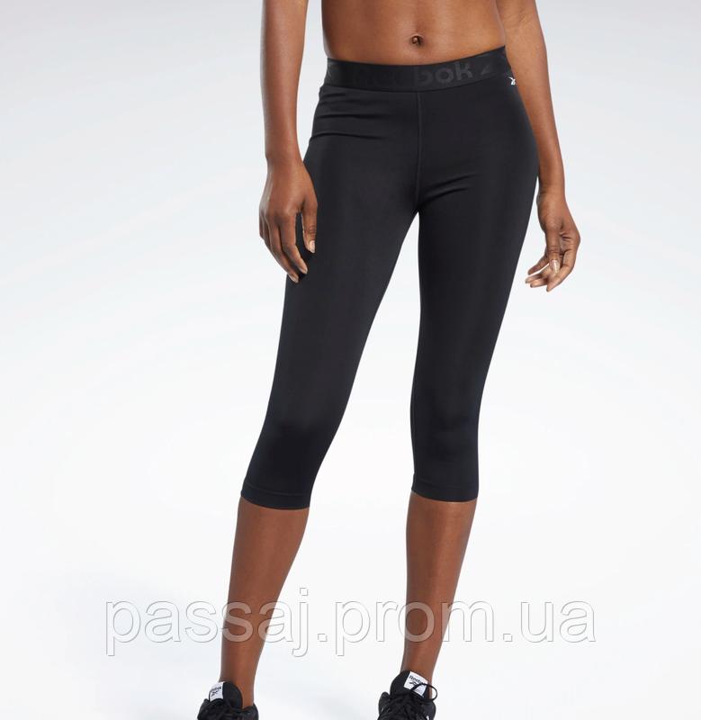 Спортивные черные короткие леггинсы для фитнеса reebok speedwick