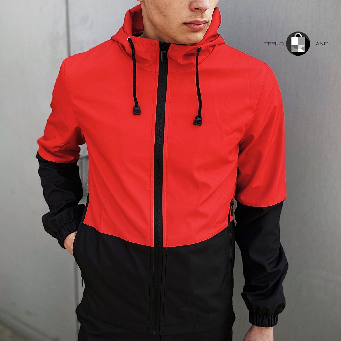 """Розміри S-3XL   Чоловіча куртка вітровка Softshell """"Light"""" Red Червона"""