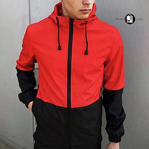 """Розміри S-3XL   Чоловіча куртка вітровка Softshell """"Light"""" Red Червона, фото 2"""