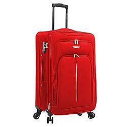 Чемодан ткань нейлон 4 колеса с расширением средний М :68*42*26 см 2,9 кг 75 л красный Madisson 02103