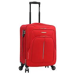 Чемодан ткань нейлон 4 колеса с расширением малый S :55*40*20 см 2,6 кг 42 л красный Madisson 02103