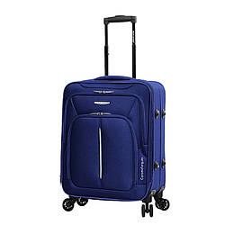 Чемодан ткань нейлон 4 колеса с расширением малый S :55*40*20 см 2,6 кг 42 л темно синий Madisson 02103