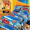 Ткань для детского постельного белья, бязь Ралли (Маленький гонщик)