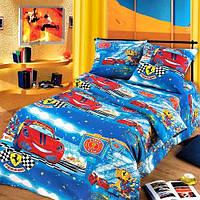 Ткань для детского постельного белья, бязь Ралли (Маленький гонщик), фото 1