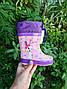 Дитячі гумові чоботи для дівчаток Bi&Ki 21р, 13.7 см, фото 7