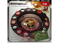 Рулетка со стопками в метал. коробке i3-91, настольная игра рулетка со стопками, игра пьяная рулетка