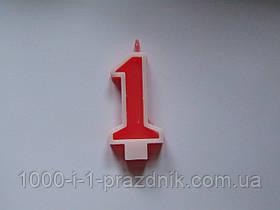 Свеча-цифра красная