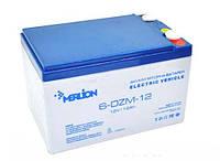 Аккумуляторная батарея тяговая MERLION 6-DZM-12, 12V 12Ah (4392)