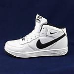 Кросівки N!ke Білі Жіночі Високі Шкіряні Форси (розміри: 36,37,38,39,40,41) Відео Огляд, фото 7