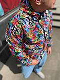 Мужская ветровка яркая осенняя чоловіча куртка осінь С М Л ХЛ ХХЛ, фото 2