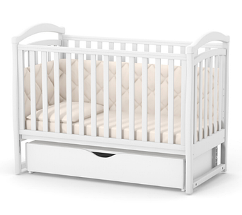 Детская кроватка для новорожденного Верес Соня ЛД6 Белая с маятником и ящиком