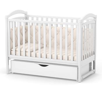 Дитяче ліжечко Верес Соня ЛД6 Біле маятник з ящиком ЄС Новий функціонал