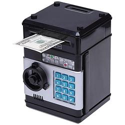 Дитячий електронний сейф Number Bank з кодовийм замком і купюропріємником, Чорний