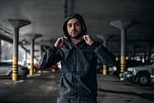 """Размеры S-2XL   Мужская куртка ветровка Intruder """"Sprinter"""" Серая, фото 2"""