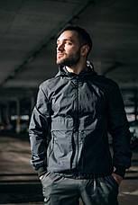 """Размеры S-2XL   Мужская куртка ветровка Intruder """"Sprinter"""" Серая, фото 3"""
