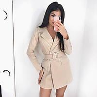 Платье пиджак женское с поясом
