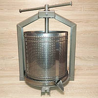 Пресс Полтава-6Л ИнжСервис - для отжима сока из яблок, винограда, ручной винтовой, нержавейка, фото 1