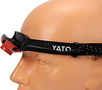 Налобный аккумуляторный фонарь 500 лм YATO YT-08596, фото 4