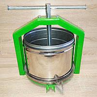 Пресс Полтава-10Л S&K Mechanics - для отжима сока из яблок, винограда, ручной винтовой, нержавейка, фото 1
