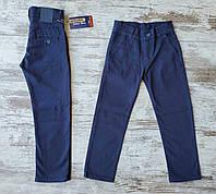 Шкільні штани котонові дитячі для хлопчика 6-9 років,колір синій