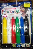 Краски для лица (аквагрим), ТМ AMOS, 6 цветов, фото 1