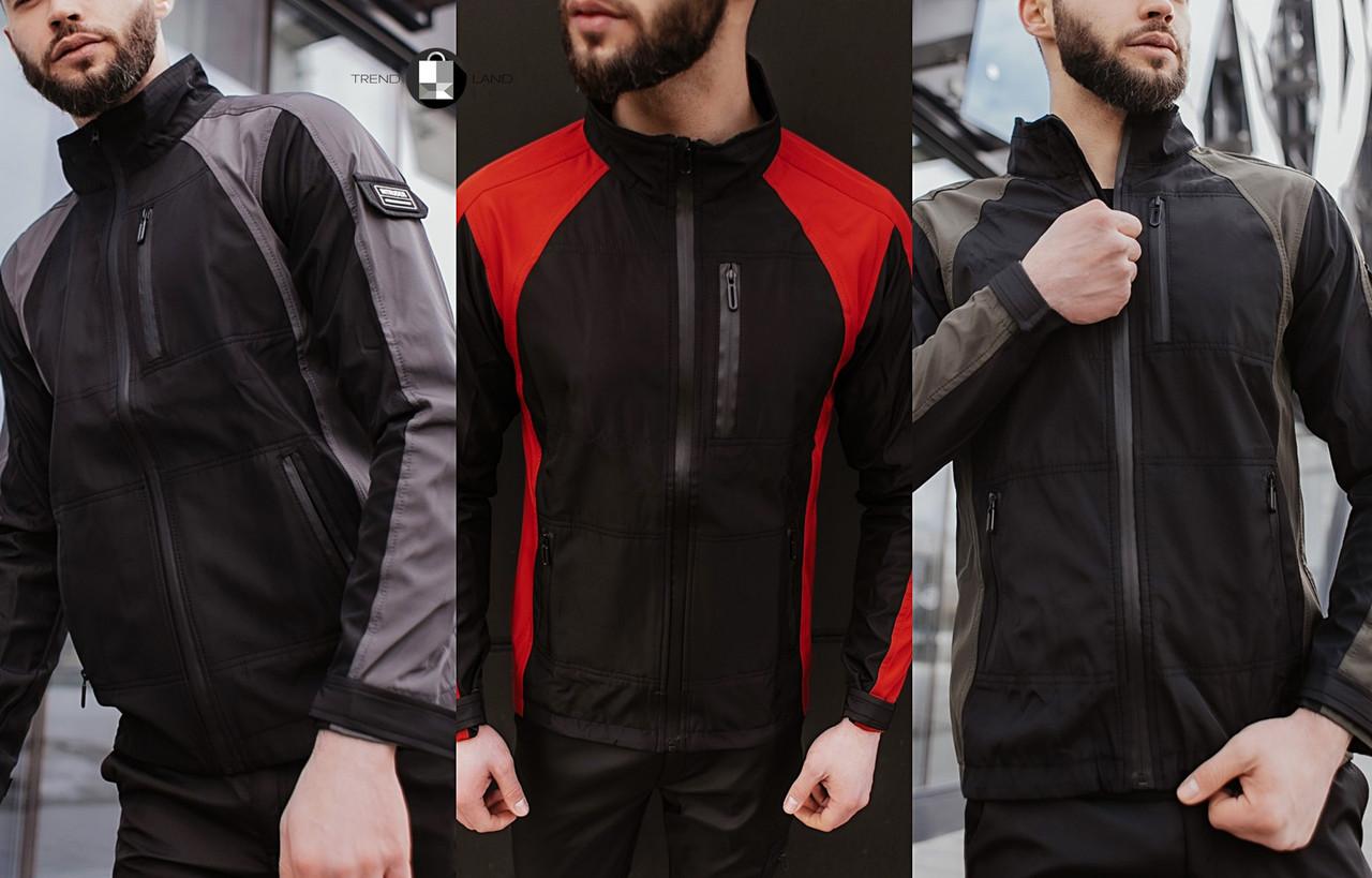 Розміри S-2XL | Чоловіча куртка вітровка Intruder Softshell Light 'iForce'
