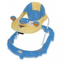 Детские ходунки Just4kids BW-14, цвет голубой-желтый