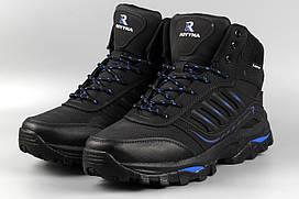 Ботинки мужские черные Royyna 019L-8 великаны баталы Ройна Бона Bona Размеры 47 48 49