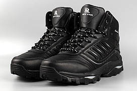 Ботинки мужские черные Royyna 019C-8 великаны баталы Ройна Бона Bona Размеры 47 48