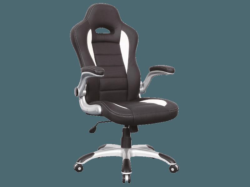 Комп'ютерне крісло Q-024 Signal Чорний / Білий