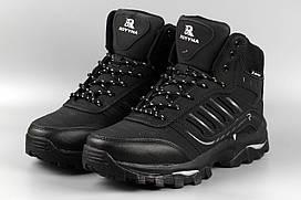 Ботинки мужские черные Royyna 019D-6 Ройна Бона Bona Размеры 41 42 43 44 45 46